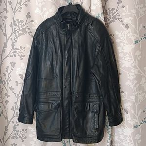 Wilsons the leather experts  black coat si…